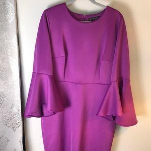 Eloquii Dresses - Flare Sleeve Scuba Dress